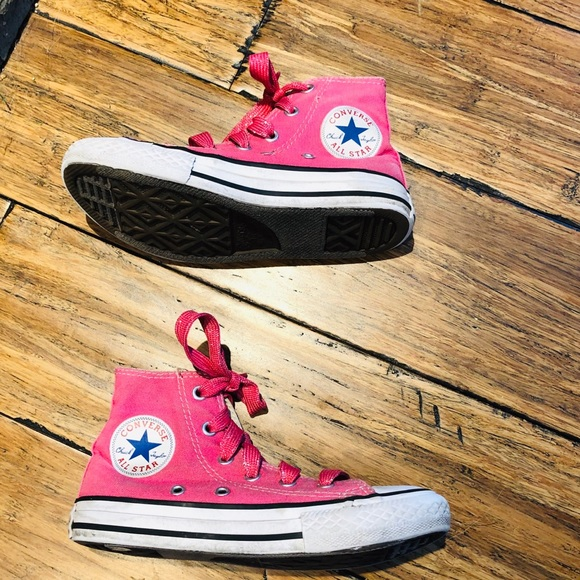 Converse Shoes | High Tops Pink Sparkly